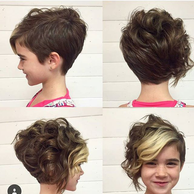 Curly pixie hairstyle
