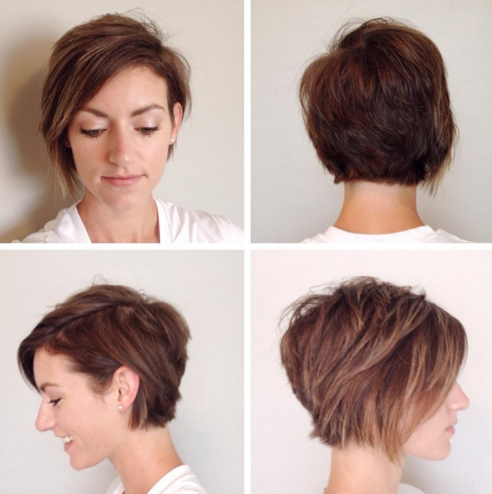 Fabulous layered pixie hairstyle