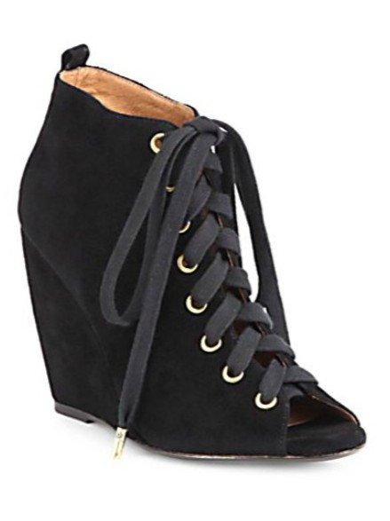 Joie Rainey suede lace-up ankle boots