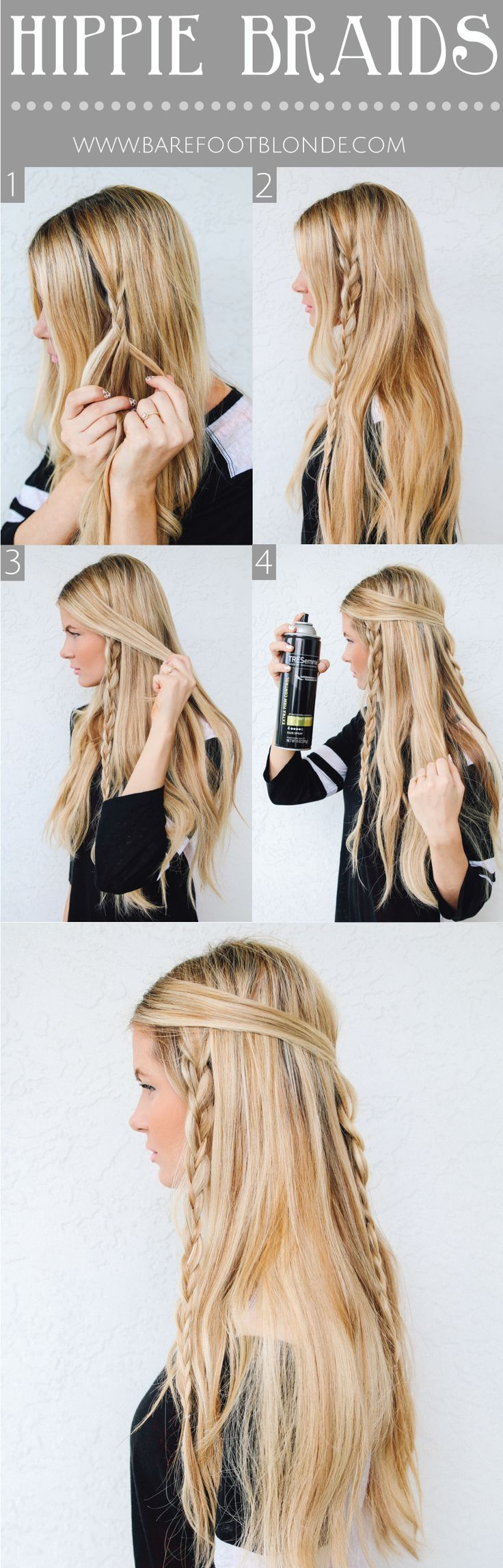 Messy Braided Hairstyle Tutorial