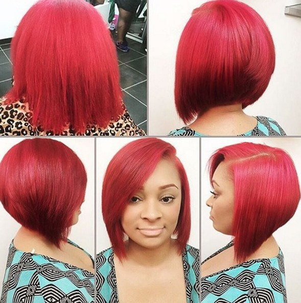 A-line bob hairstyle