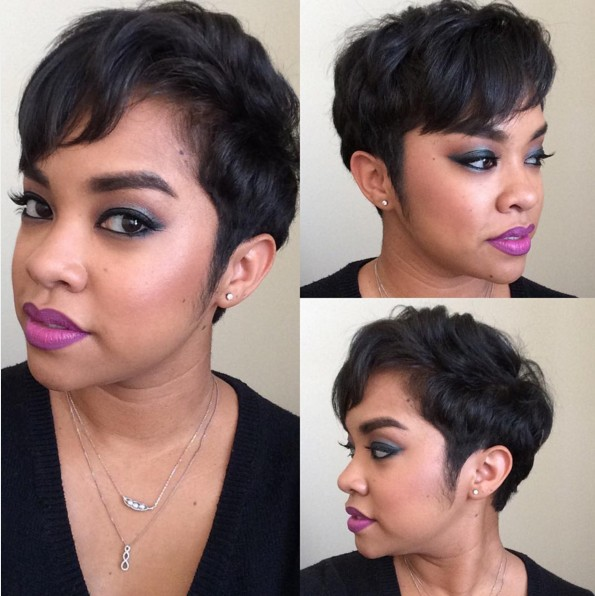 Casual everyday hairstyle for short hair