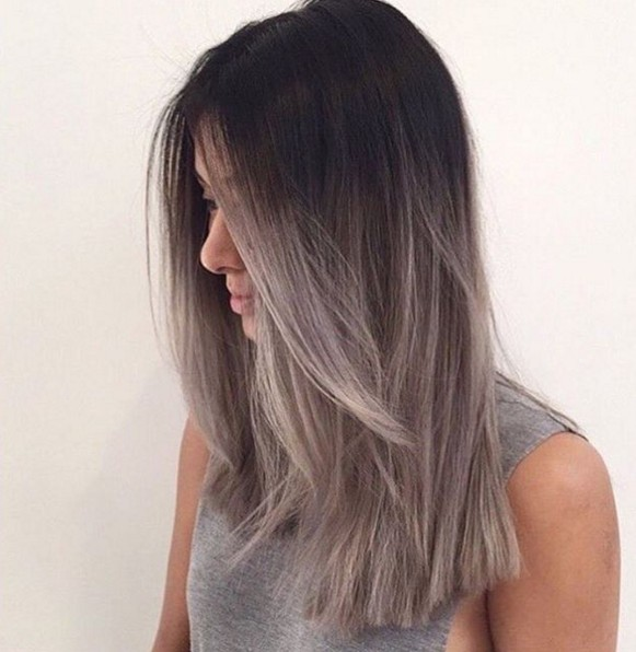 Gray ombre hairstyle