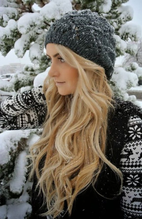 Snowy blonde winter