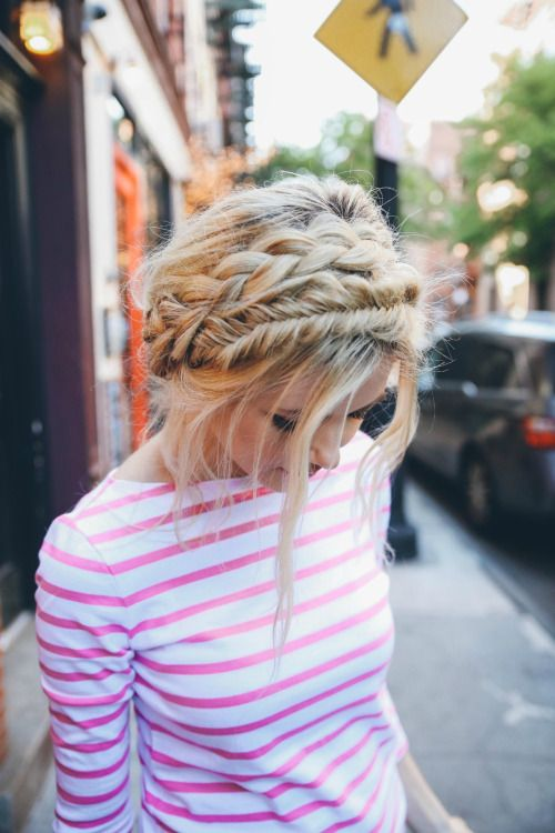 Loose crown braid