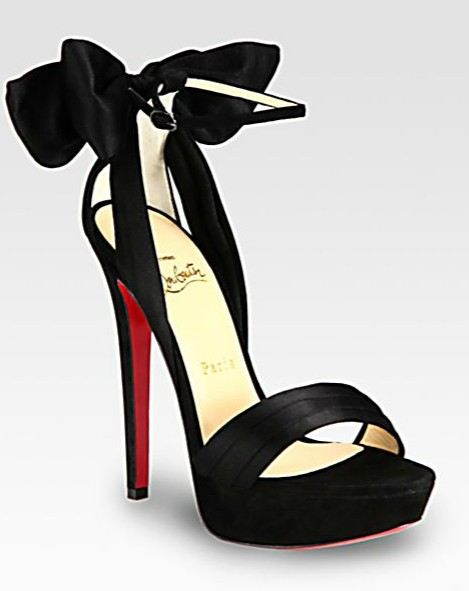 VampanodoChristian Louboutin sandals in satin and suede
