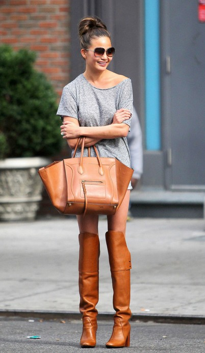 Chrissy Teigens Brown Knee High Boots
