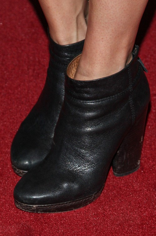 Katie Aselton's ankle boots