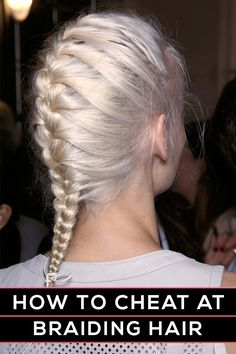 French braid for blonde hair