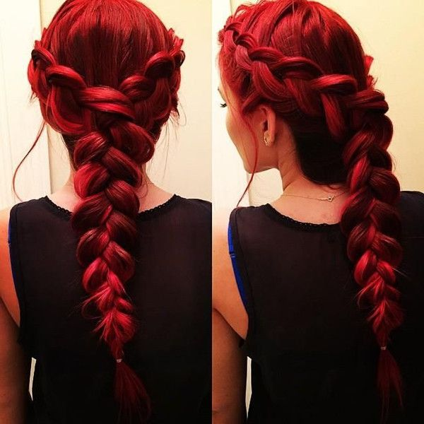 Stunning French braid for red hair