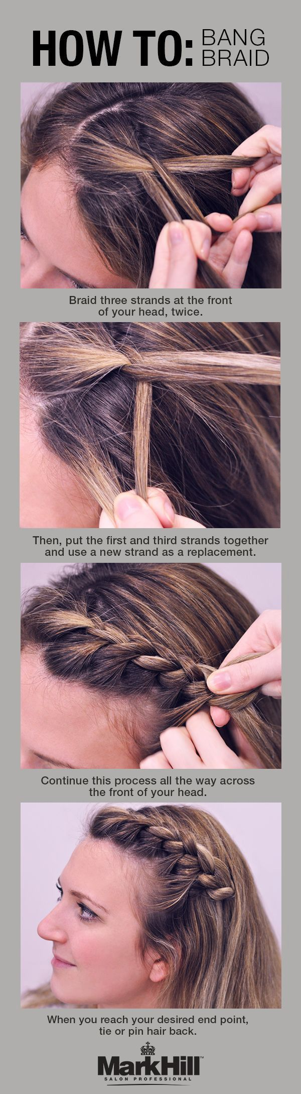 Braid Bang's hairstyle tutorial