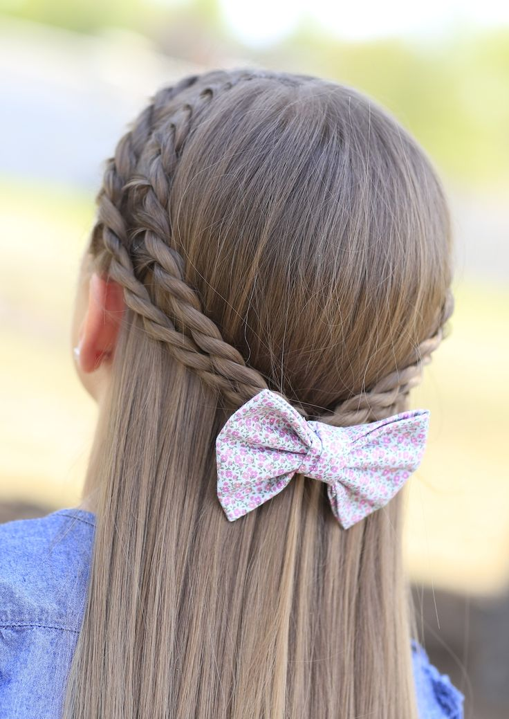 Rope Braid Tieback hairstyle for school girls