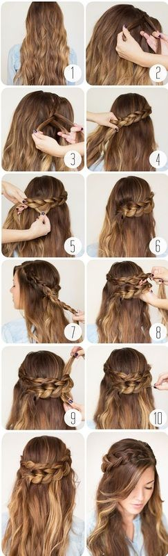Messy Braid hairstyle tutorial for school girls