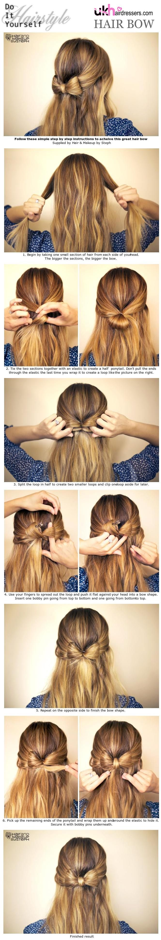 Hair bow hairstyle tutorial