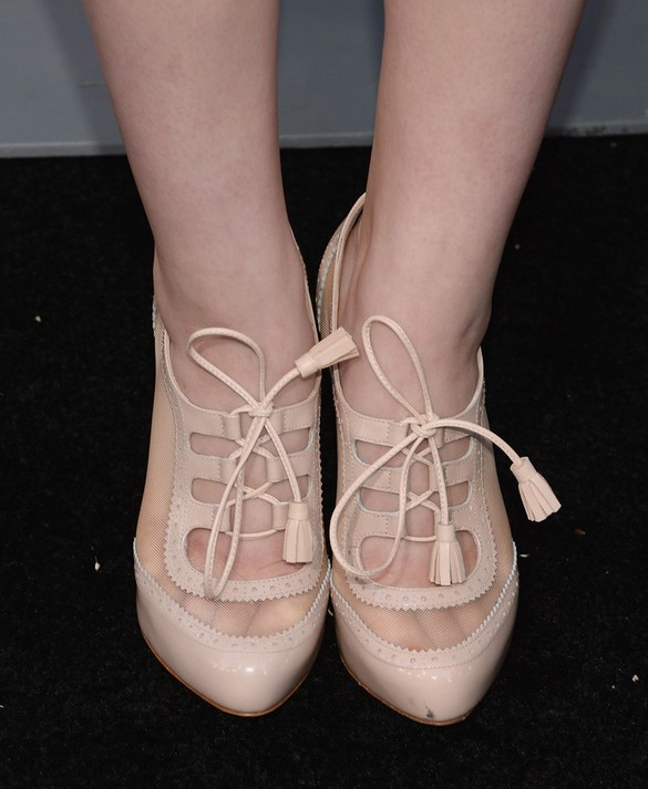 Joey King's ankle boots