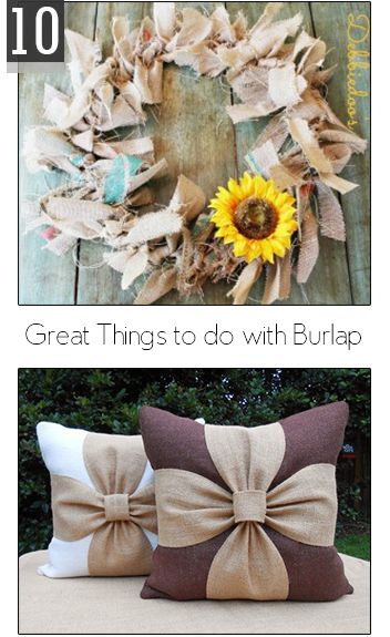 Things with burlap