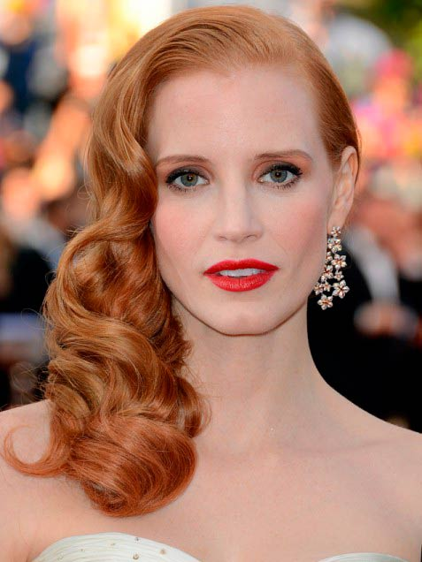Jessica Chastain Long Curly Hairstyle
