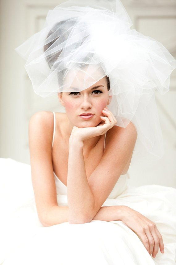 Updo for weddings with veils