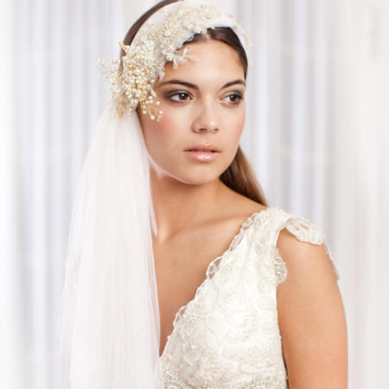 Wedding hairstyle with hair pieces