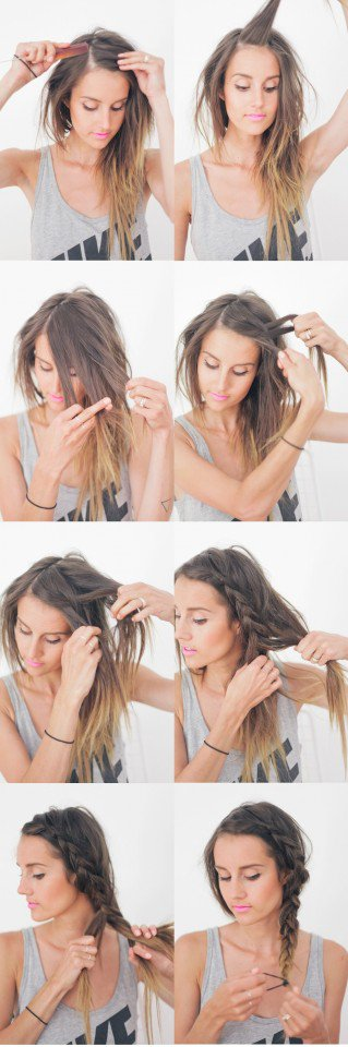 Braided side hairstyle for everyday look