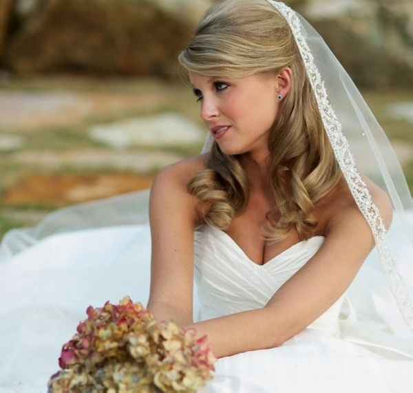 Half up hairstyle for wedding hairstyles