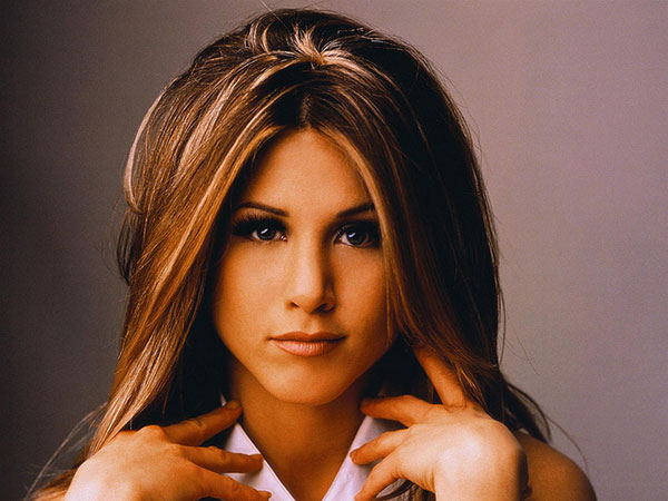 Jennifer Aniston combed hair