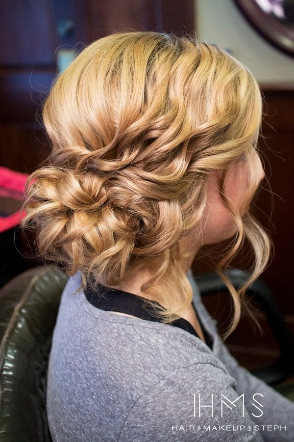 Messy Side Updo for curly hair