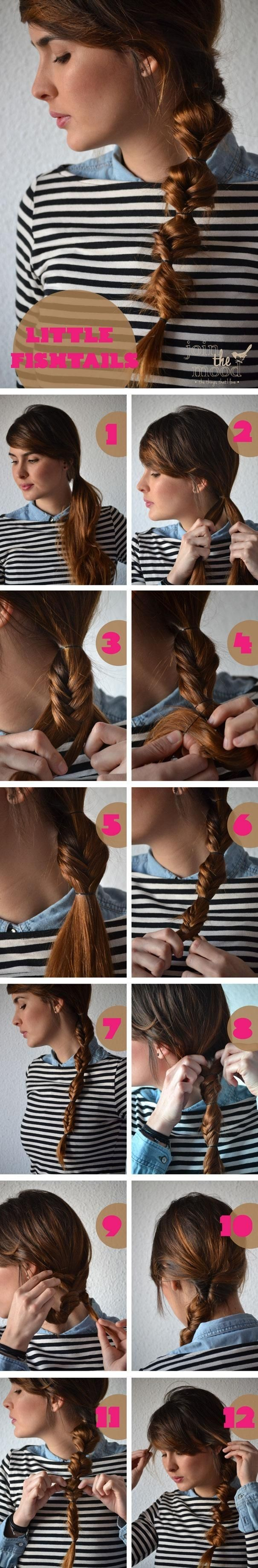 Small fish ponytail hairstyle tutorial