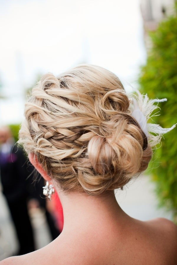 Pretty braided updo