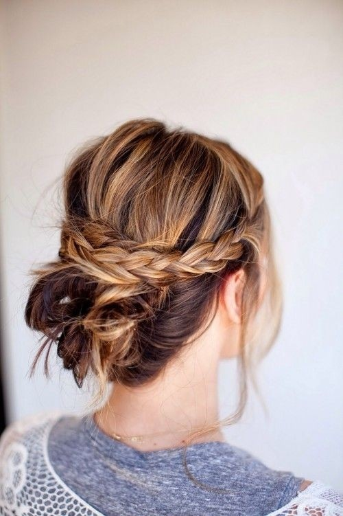 Simple braided updo for everyday hairstyles