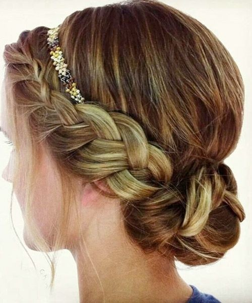 Headband braid hairstyle
