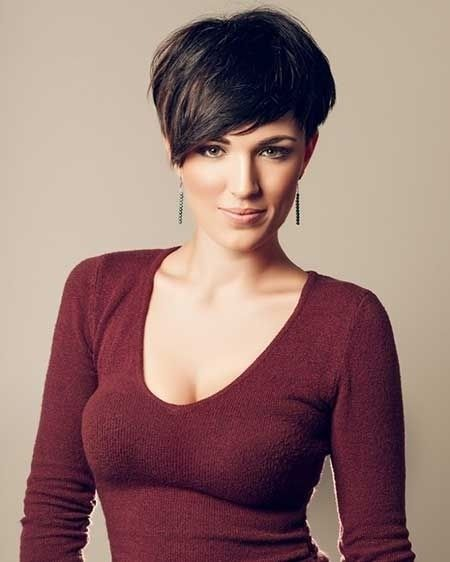 Stylish short pixie haircut