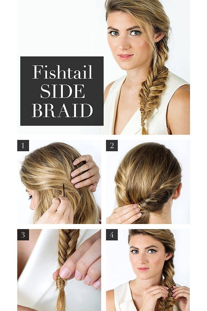 French Fishtail Side Braided Hairstyle