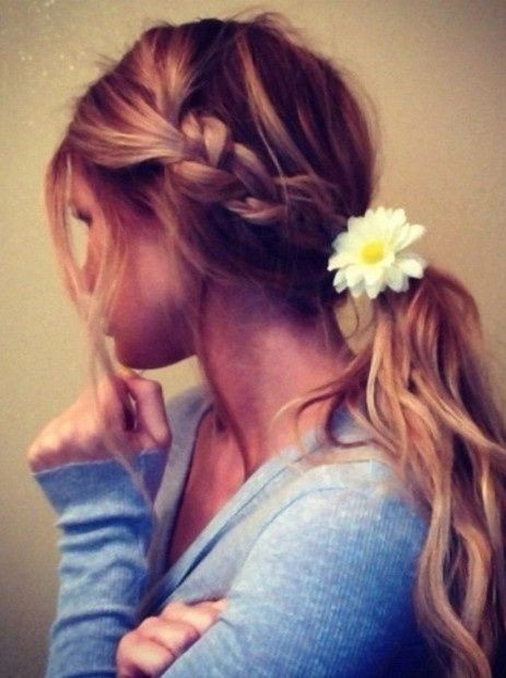 Pretty braid in ponytail hairstyle