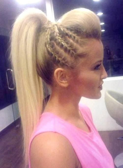 Braided high ponytail