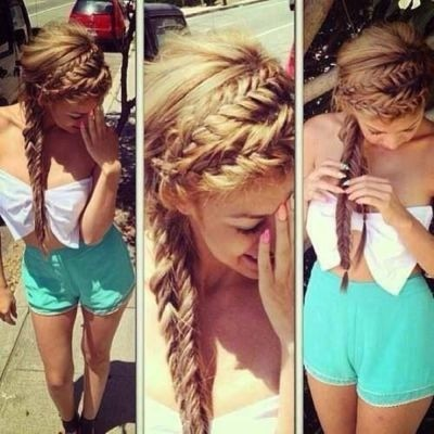 Stunning braided fishtail hairstyle for girls