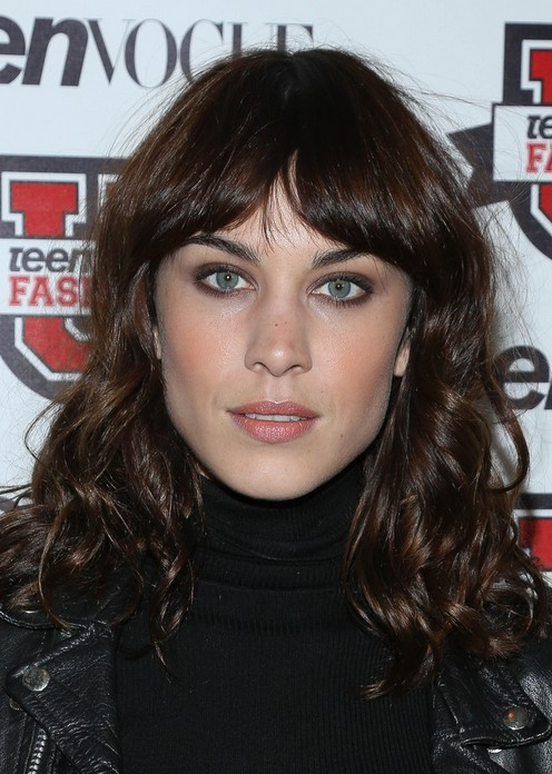 Alexa Chung Long Curly Hairstyle