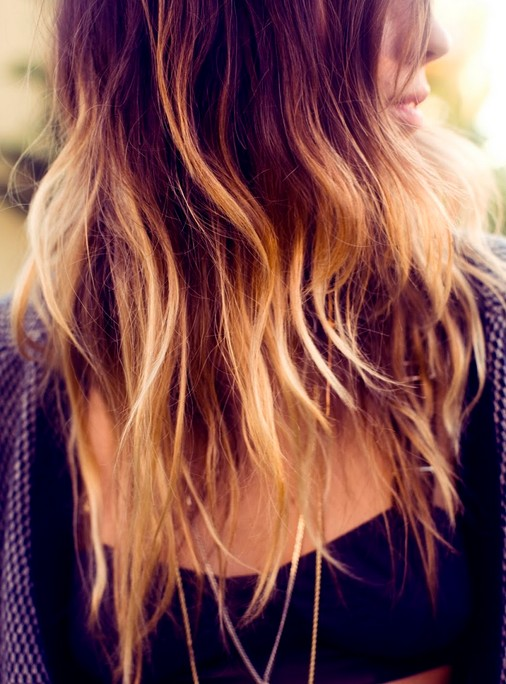 Blonde ombre hair color for long hair