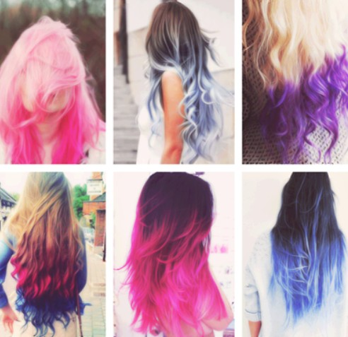 Different ombre hair color ideas for girls