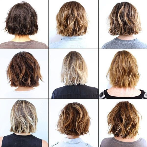 Short wavy bob hairstyle ideas