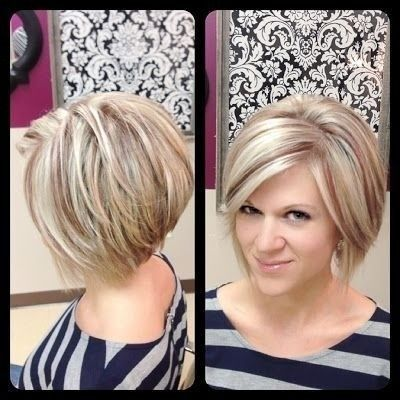 Short bob haircut for heart face shape