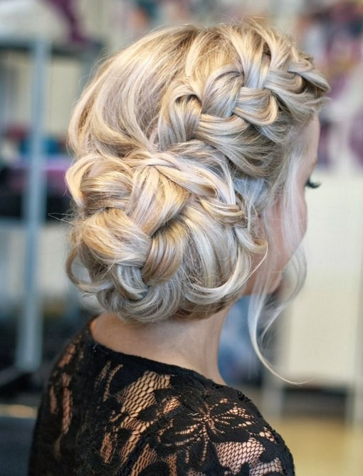 Side French Twisted Updo