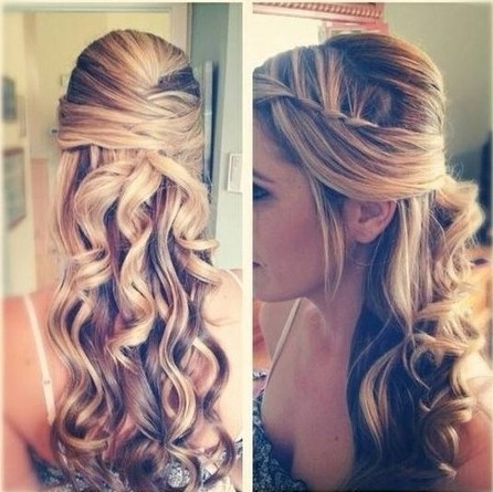 Half Up Half Down Hairstyles for Ombre Hair