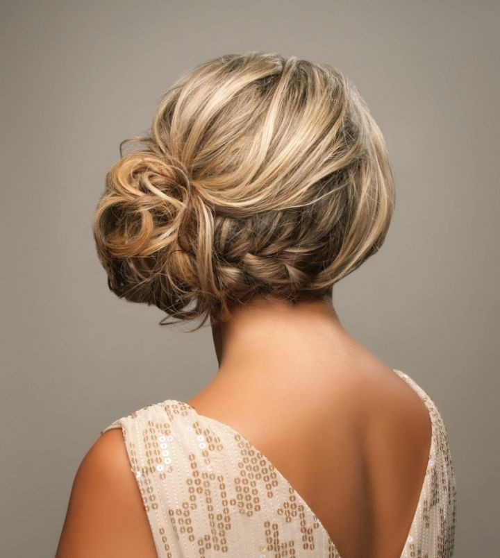 Messy Side Braided Updo for wedding hairstyles