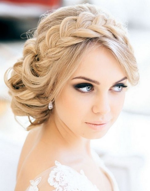 Perfect braided updo for the wedding