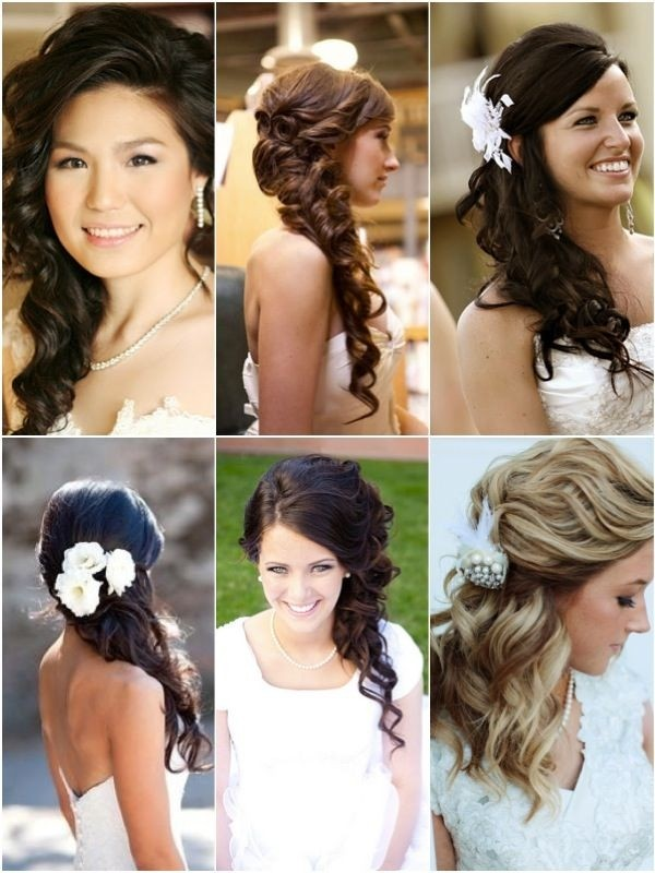 Trendy side wedding hairstyles