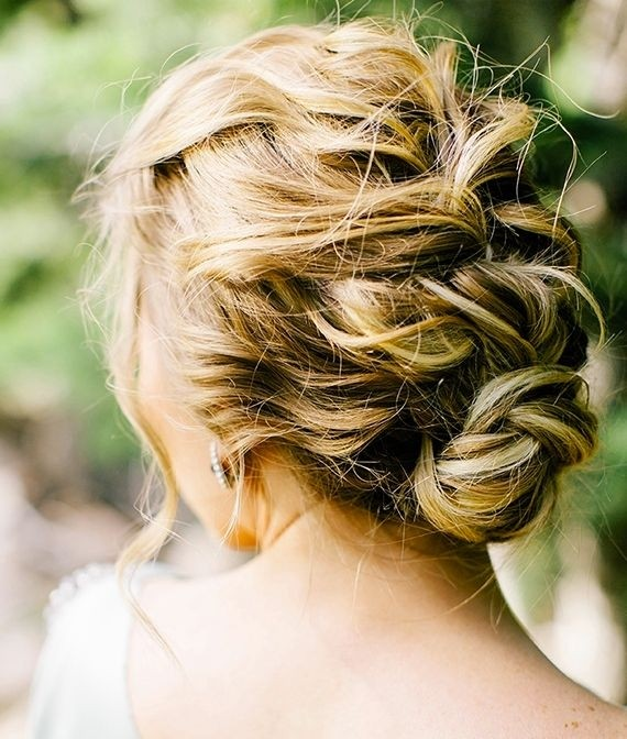 Romantic braided updo for weddings