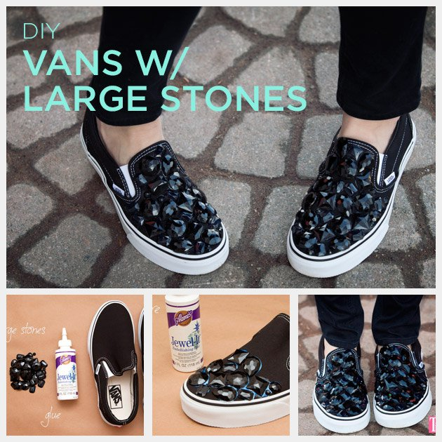 Sneakers with stones
