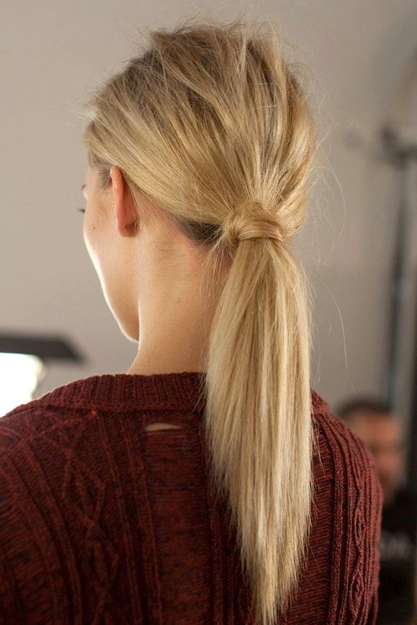 Simple ponytail for summer hairstyles