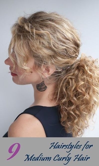 Simple ponytail hairstyle for curly hair